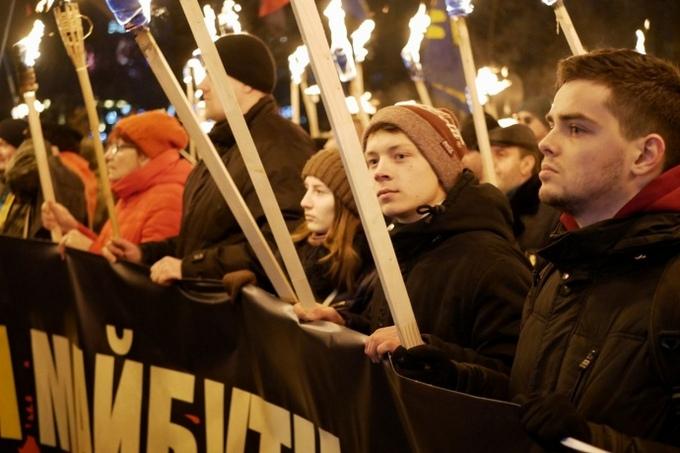 В Киеве провели факельное шествие в честь Бандеры: опубликованы фото и видео (2)
