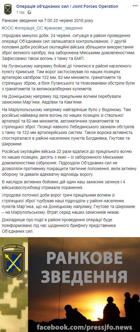 Ситуация на Донбассе обостряется: ВСУ понесли значительные потери (1)