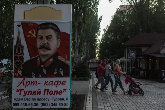 """Російський блогер викликав гнів фотографіями """"мирного"""" Донецька (1)"""