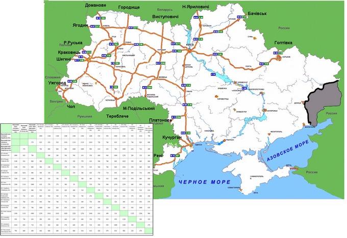 Маршруты транзита российских фур через Украину: опубликована карта (1)