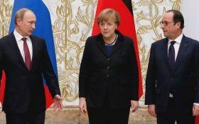 """Путин рассказал Меркель и Олланду об """"импульсе"""" по Донбассу"""