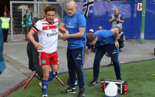 Лидер Гамбурга Мюллер рискует пропустить семь месяцев из-за травмы крестообразных связок