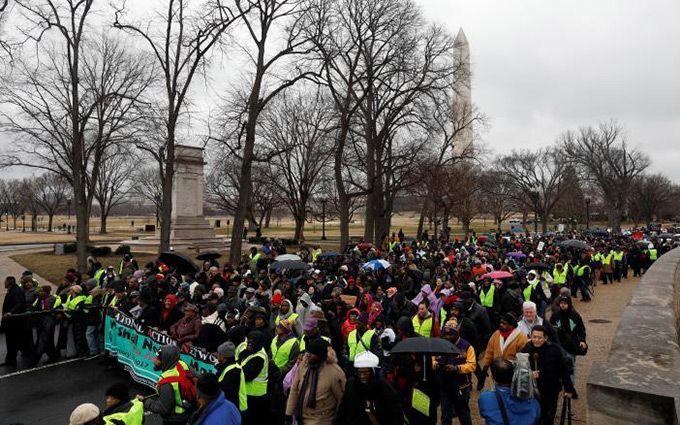 ВСША началась неделя протестов против инаугурации избранного президента Дональда Трампа
