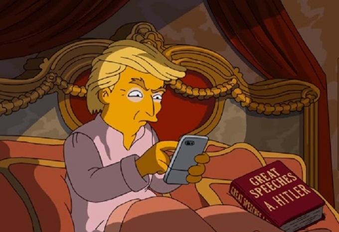 """""""Сімпсони"""" зробили яскраву пародію на Трампа"""