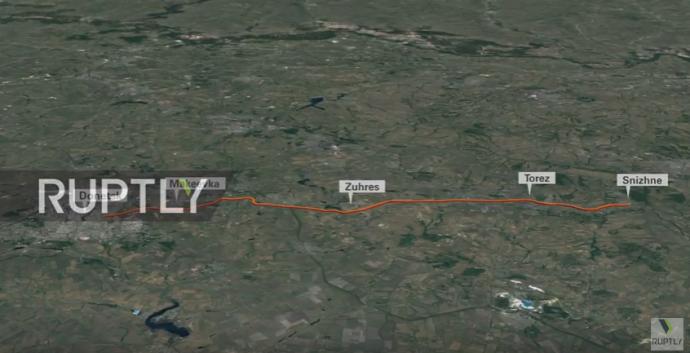"""Став відомий маршрут """"Бука"""", який збив MH17 над Донбасом: з'явилися фото (1)"""
