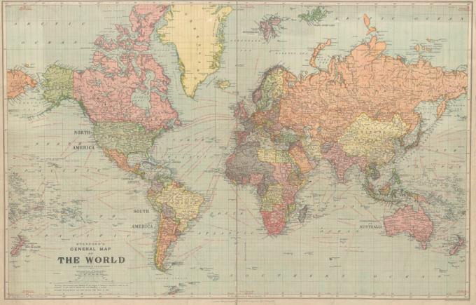Багато держав вже не існують - мережу здивувала карта світу 1922 року (1)