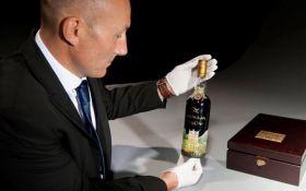 Новий світовий рекорд: на аукціоні Christie's пішла з молотка найдорожча пляшка віскі
