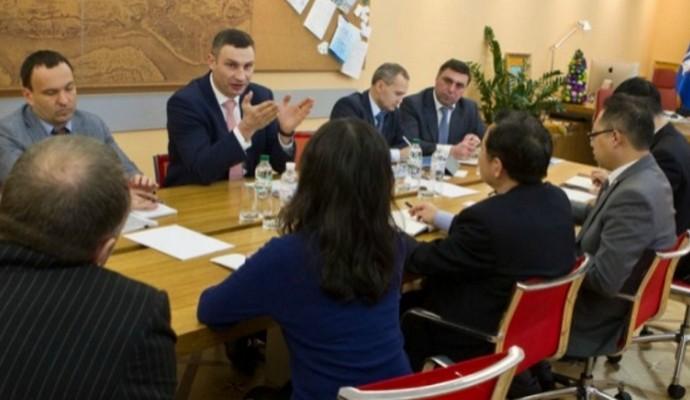 Китайские инвесторы заинтересованы проектами столицы - Кличко