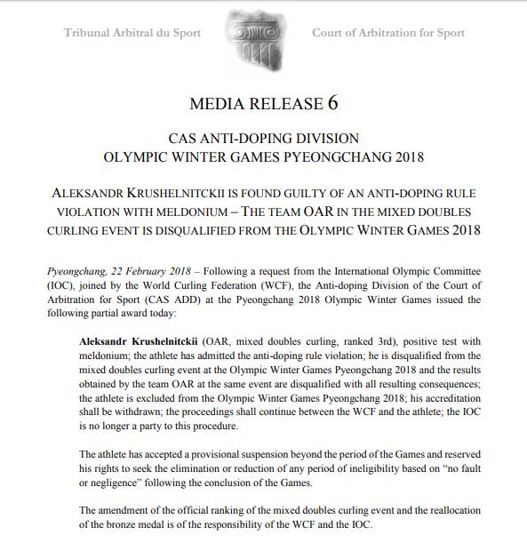 Допинг-скандал на Олимпиаде: CAS принял жесткое решение по российским медалям (1)