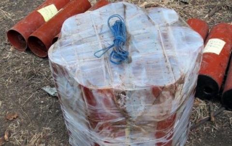 У Мар'їнці міліція знайшла схованку з вибухівкою (1)