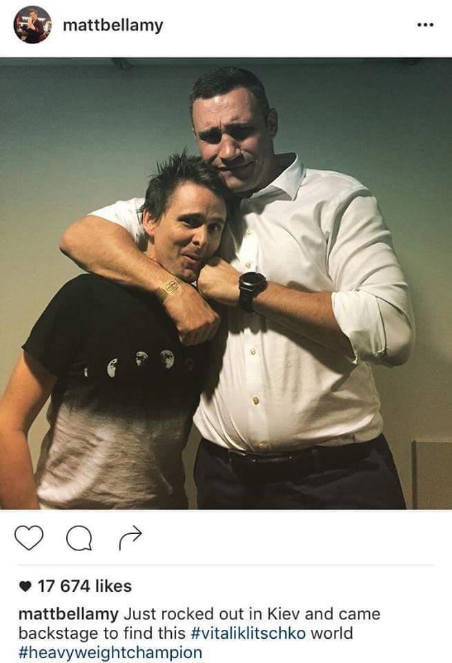Меттью, біжи: фото з Кличко і лідером Muse викликало шквал у соцмережах (1)