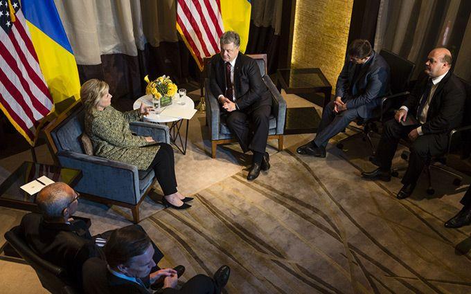 Зустріч Порошенка з Клінтонами: з'явилися фото і подробиці