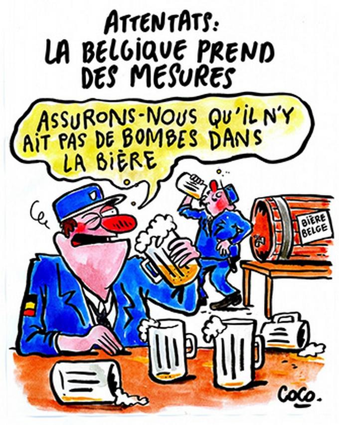 Скандальный журнал выпустил новую карикатуру на теракт в Брюсселе (1)