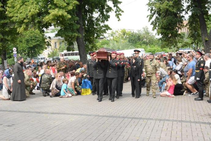 У Києві простились з комбатом, який загинув на Донбасі: опубліковані фото (1)