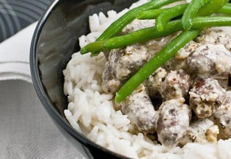 Рецепт - Куриные сердечки, тушеные в сметане