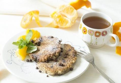 Постные блюда: Овсяные оладьи с шоколадом