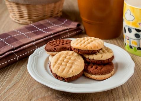 Ванильно-шоколадное печенье