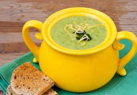 Суп из брокколи и сыра