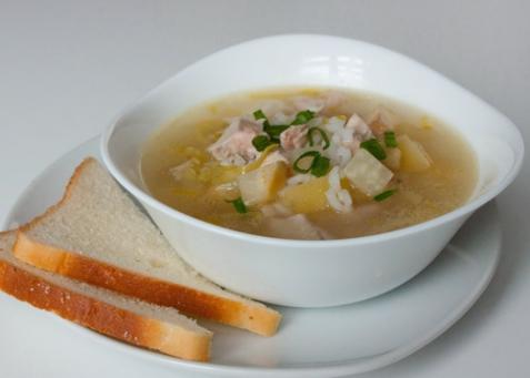 Рисовый суп из индейки