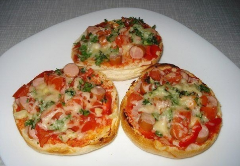 пицца в булочках рецепт с фото