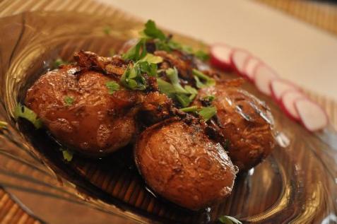Рецепт - Молодой румяный картофель
