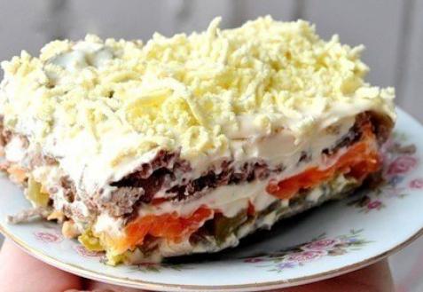 салат с печенью рецепт фото