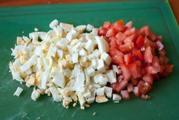 Яйца и томаты