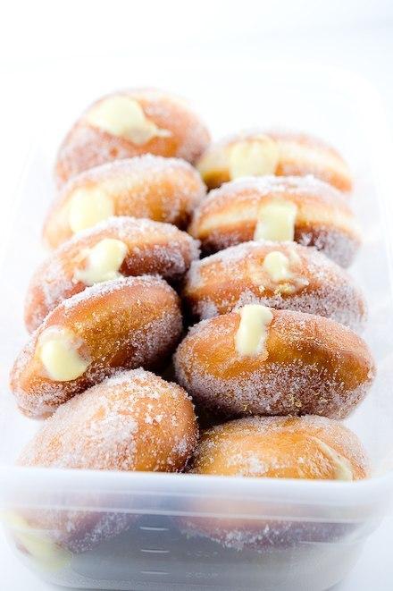 Рецепт - Пончики с лимонным кремом