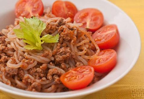 Ширатаки с мясным соусом