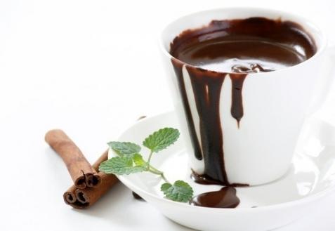 Рецепт - Горячий шоколад с корицей