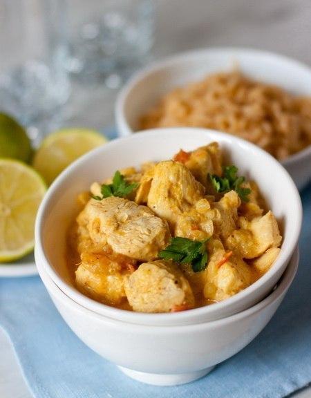 Рецепт - Курица с соусом карри