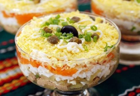 Салат слоеный «Печенкин»