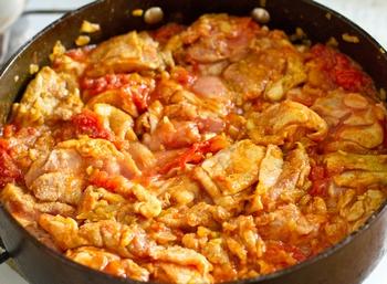 + томаты и курица