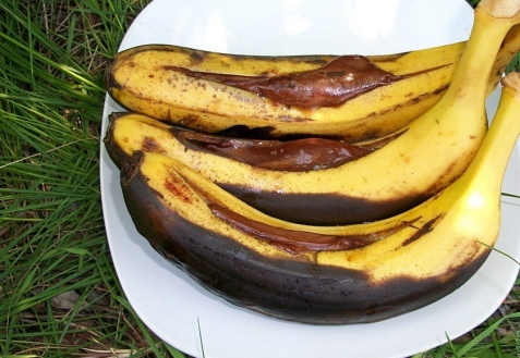 Банан-гриль с шоколадом (видео)