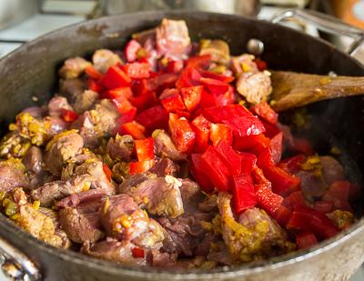 + мясо и перец