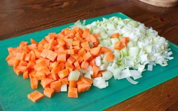 Морковь, сельдерей, порей