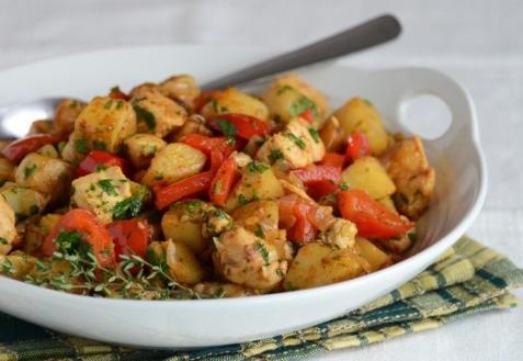 Рецепт - Жаркое из индейки и овощей