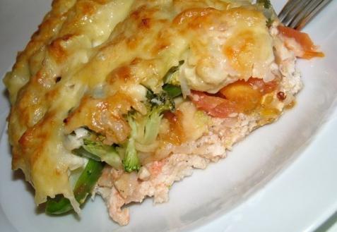 Рецепт - Куриная запеканка с овощами
