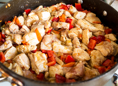+ курица и перец