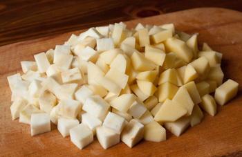 Картофель и сельдерей