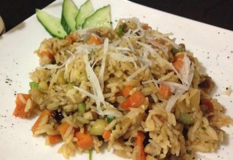 Рецепт - Постный рис с овощами