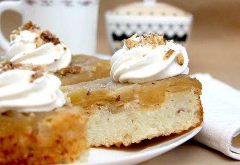 Рецепт - Яблочно-рисовый пирог