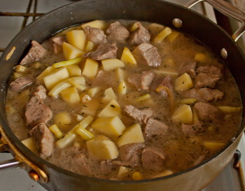 + мясо и бульон