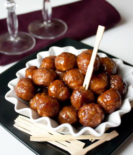 Остро-сладкие закусочные фрикадельки