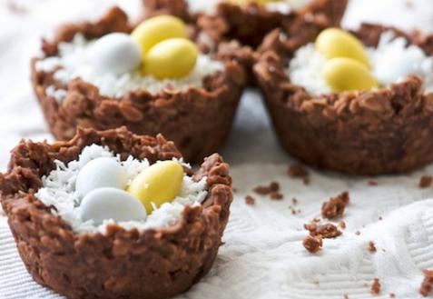 Пасхальные шоколадные гнезда