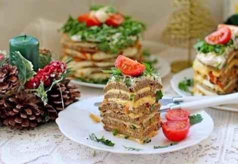 Рецепт на Новый год: Мини-тортики из печени