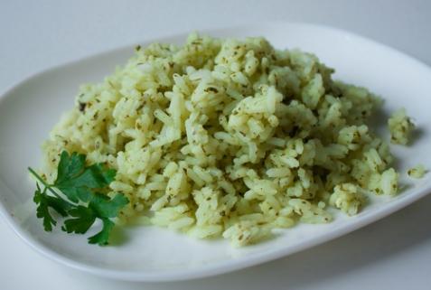 Рис с петрушкой и лаймом