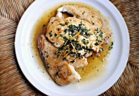 Рецепт - Куриные грудки в лимонном соусе