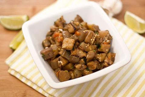 Рецепт - Соте из баклажанов