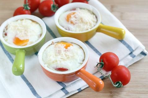 Рецепт - Яичница с помидорами в духовке